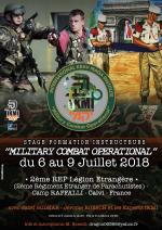 Assistant and Instructor Training Course - Operational Military Combat - From 6 to 9 July 2018 - 2ème REP Foreign Legion - Calvi