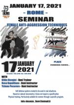 January 17, 2021 - Seminar Female Anti-aggression Techniques - Rome - Italy