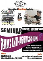 Saturday 5, December 2020 - Seminar  Female Anti-Aggression - Palermo Italy