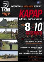 December 8 to 10, 2017 - Kapap Instructor Course - Italy