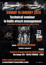 19 January 2020 Technical knife Seminar - with Jerome Ferre - Florence - Italy