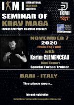 November 7 2020  Seminar of Krav Maga  Italy