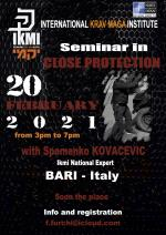 February 20, 2021 Seminar in Close Protection - Italy