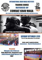5 September 2020  Training Course Referees of Combat Krav Maga - Italy
