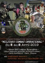 Du 5 au 8 Avril 2019 - Stage Formation Instructeurs MCO - Legion Etrangère - Calvi