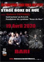 19 Avril 2020 - Stage Boxe de Rue - Robert Paturel - Bari - Italy
